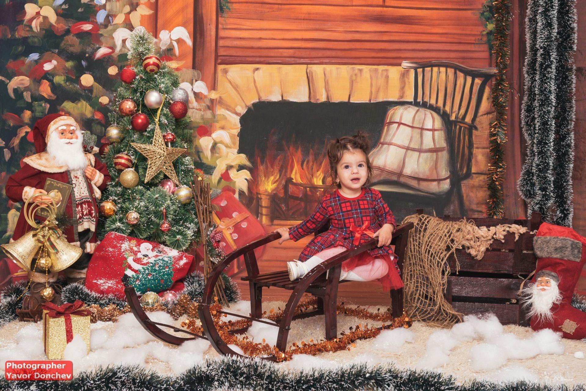 Коледна фотосесия на Адел и Ивайла