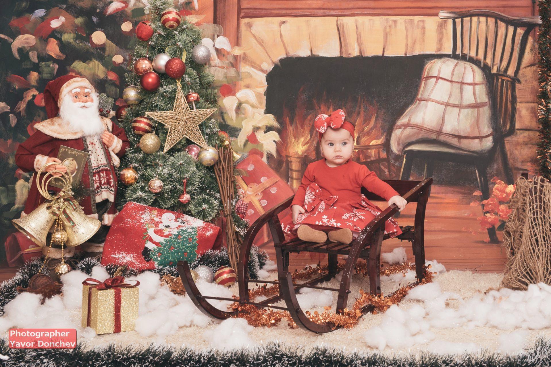 Коледна фотосесия на Андреа