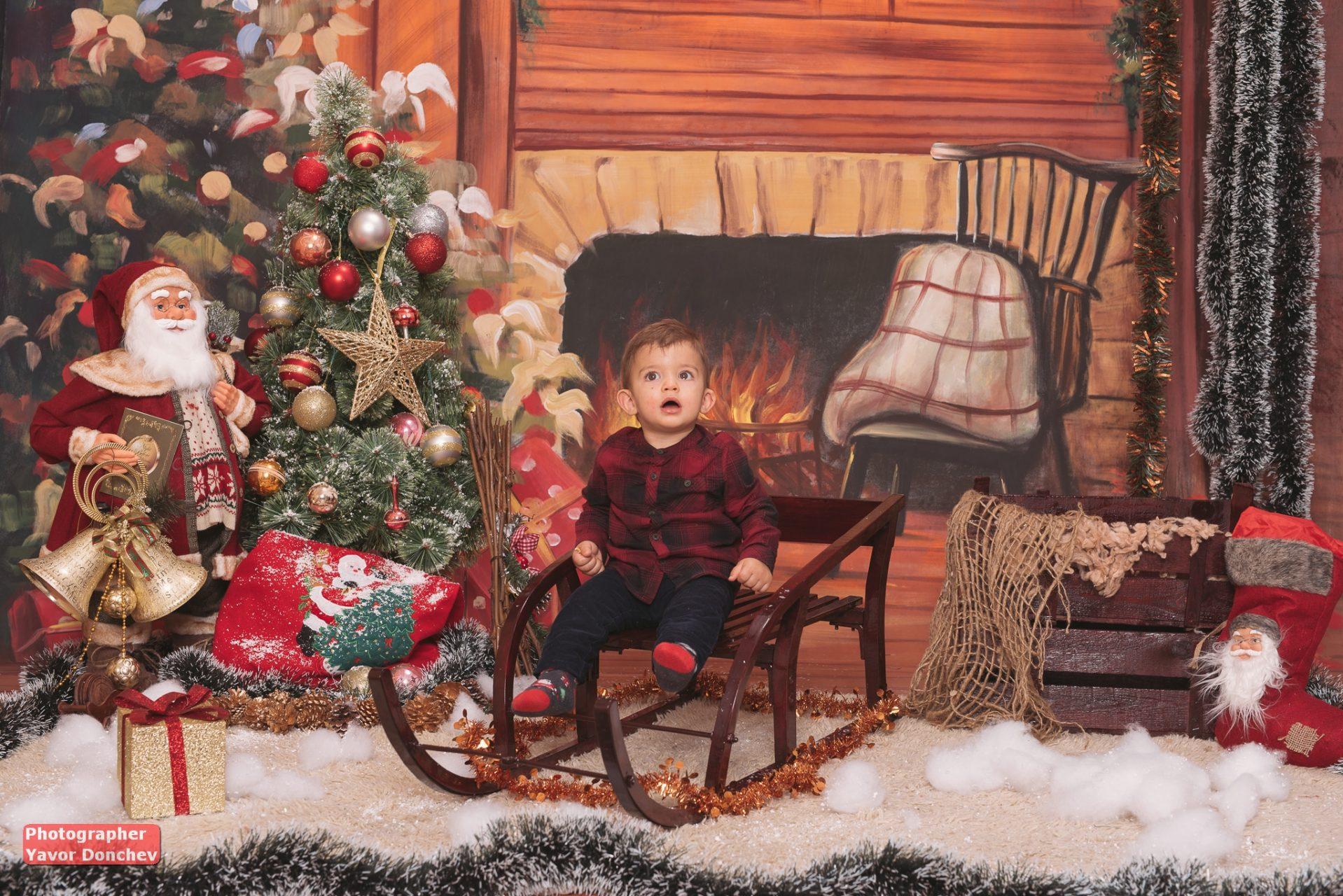 Коледна фотосесия на Кристиан