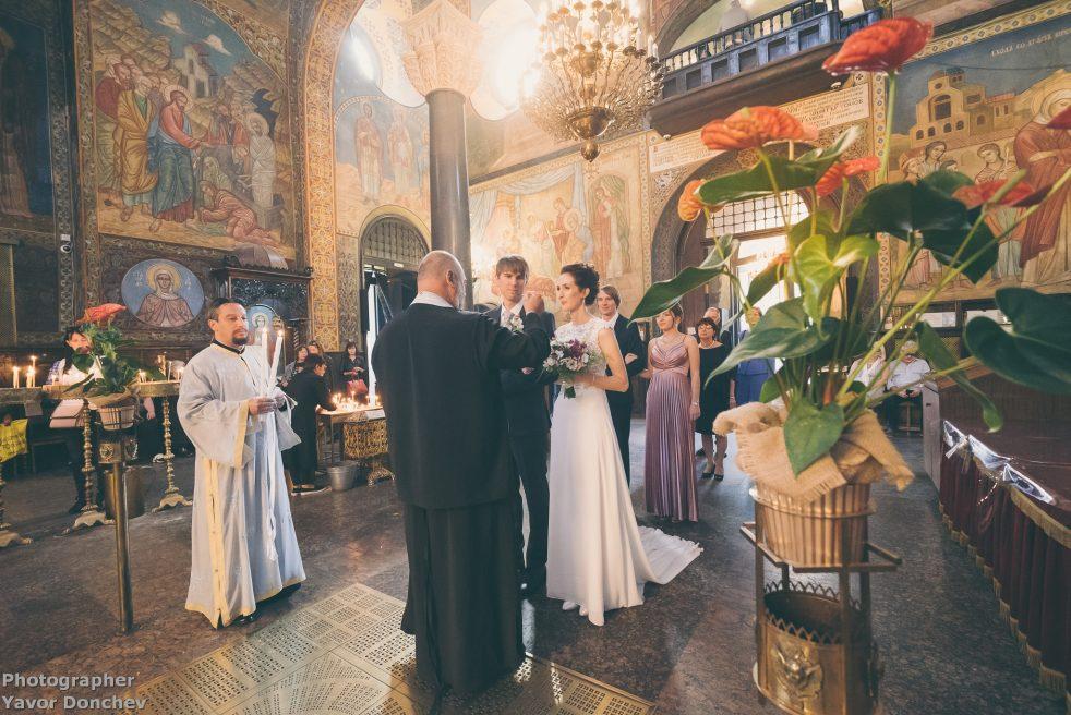 Църковен брак на Томас и Теодора