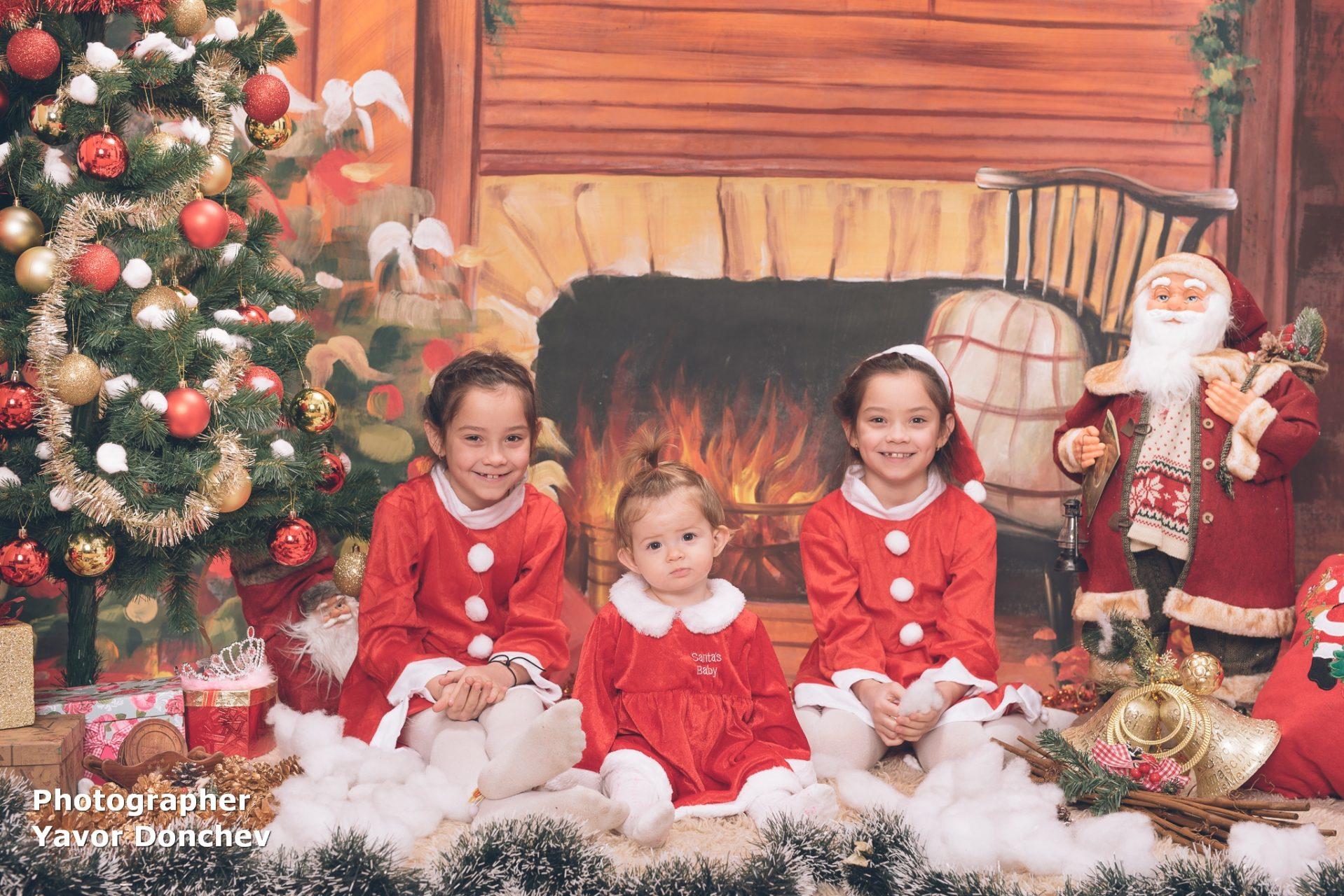 Коледна фотосесия на Изабел и сестричките 2020